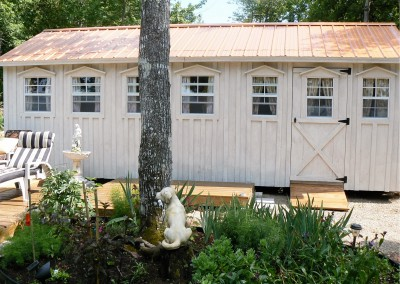 Large 12'x24' White Washed Bunkie