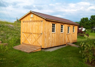 Amish Shed with double door and ramp